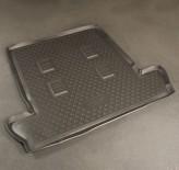 Резиновый коврик в багажник Lexus LX 2008-2015 7-ми местный Unidec