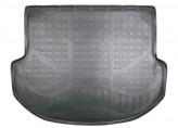 Резиновый коврик в багажник Hyundai Santa Fe (DM) 2012- (5 мест) Unidec