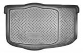 Резиновый коврик в багажник Kia Soul HB 2009-2014 (без органайзера) Unidec