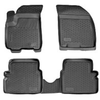 Глубокие резиновые коврики в салон Chevrolet Aveo 2002-2012 L.Locker