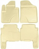 Резиновые коврики Hyundai Santa Fe 2010-2012 БЕЖЕВЫЕ