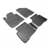 Резиновые коврики Hyundai Santa Fe 2012- (5 мест)