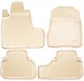 Резиновые коврики Honda CR-V 2006-2012 БЕЖЕВЫЕ Unidec