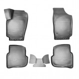 Резиновые коврики Volkswagen Polo (SD) 2010- 3D