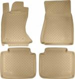 Резиновые коврики Lexus GS 2005-2012 (полный привод) БЕЖЕВЫЕ Unidec