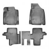 Резиновые коврики Nissan Pathfinder 3D 2014- (5 мест) Unidec