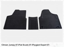 Резиновые коврики Fiat Scudo Citroen Jumpy Peugeot Expert 2007-