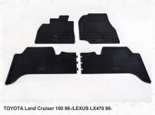 Резиновые коврики Toyota Land Cruiser 100 Lexus LX 470