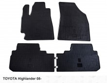 Резиновые коврики Toyota Highlander 2007-2014