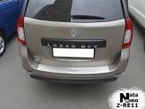 Накладка на бампер с загибом Renault Logan MCV 2013-