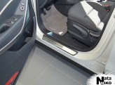 Nataniko Накладки на пороги Hyundai Santa Fe 2012-2015- (Premium)