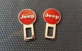 Заглушки ремня безопасности Jeep (красные)