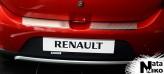 Накладка на бампер с загибом Renault Megane 2015-