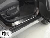 Nataniko Накладки на пороги Suzuki SX4 2013- (Premium)