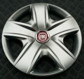 Колпаки Fiat 500 R17 (Комплект 4 шт.) SKS (с эмблемой)