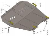 Кольчуга Защита двигателя, коробки передач Opel Zafira B