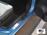 Nataniko Накладки на пороги Nissan Leaf 2013-2017 (Premium)