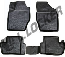 L.Locker Глубокие резиновые коврики в салон Citroen C4 II (10-)