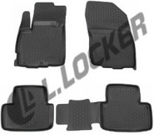 L.Locker Глубокие резиновые коврики в салон Mitsubishi ASX Peugeot 4008 Citroen C4 Aircross