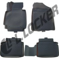 Глубокие резиновые коврики в салон Hyundai Veloster (11-) L.Locker