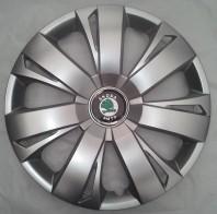 Колпаки Skoda 411 R16 (Комплект 4 шт.) SKS (с эмблемой)