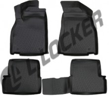 L.Locker Глубокие резиновые коврики в салон MG 3 Cross hatchback (13-)