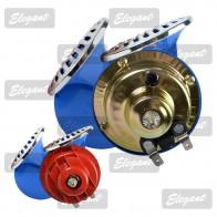 Elegant Звуковой сигнал 12V «улитка» красно-синий хром крышка EL 100 730