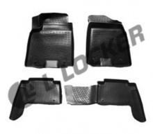 Глубокие резиновые коврики в салон Nissan Patrol VI Y62 (10-)