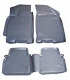 Резиновые глубокие коврики Chevrolet Lacetti СЕРЫЕ