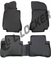 L.Locker Глубокие резиновые коврики в салон Mercedes-Benz E-klasse (W212) 2009-
