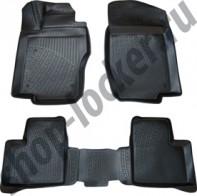Глубокие резиновые коврики в салон Mercedes ML GL (W164) 2005-2011 L.Locker