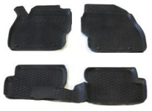 Глубокие резиновые коврики в салон Opel Corsa (06-) L.Locker
