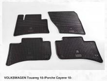 Резиновые коврики VW Touareg 10- Porche Cayenne 10-