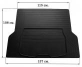 Резиновый универсальный коврик в багажник Boot L 137x108см