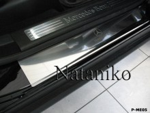 Nataniko Накладки на пороги Mercedes ML GL (W164) 2005-2011 (Premium)