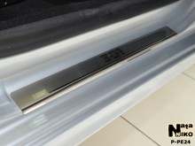 Nataniko Накладки на пороги Peugeot 301 (Premium)