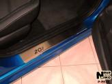 Nataniko Накладки на пороги Peugeot 207 5-ть дверей (Premium)