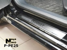 Nataniko Накладки на пороги Peugeot 208 5D