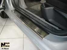 Nataniko Накладки на пороги Peugeot 407 5D