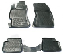 Глубокие резиновые коврики в салон Subaru Impreza III (07-) L.Locker