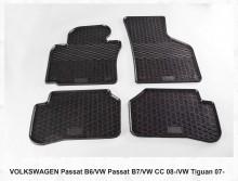 Резиновые коврики VW Passat B6 B7 СС 08-11-