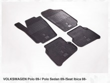 Резиновые коврики VW Polo sedan HB 09- Seat Ibiza 08- Stingray