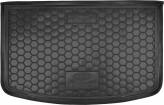 Резиновый коврик в багажник Kia Rio 2015- (хетчбэк) (TOP) (с органайзер.) Avto Gumm