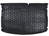 Резиновый коврик в багажник KIA Rio 2015- (хетчбэк) (MID) (без органайзер.) Avto Gumm
