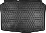 Резиновый коврик в багажник SKODA Fabia ll 2007- (хетчбэк) Avto Gumm
