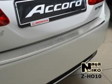 Накладка на бампер с загибом Honda ACCORD IX Nataniko
