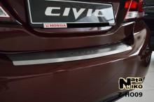 Накладка на бампер с загибом Honda CIVIC IX 4D FL Nataniko