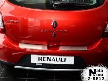 Накладка на бампер с загибом Renault Sandero 2013-