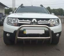 UA Tuning Защита передняя низкая Renault Duster (кенгурятник d 60)