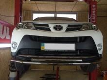 UA Tuning Защита передняя Toyota RAV4 2012- (труба двойная d 60/42)